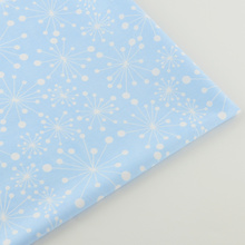 News Blue Cotton Fabric White Dandelion desgins Bedding Clothing Doll Home Textile Decoration Sewing Cloth Tissue