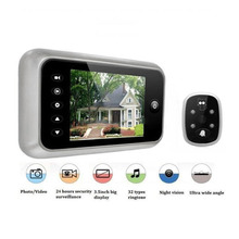 "Hot 3.5"" LCD T115 Color Screen Doorbell Viewer Digital Door Peephole Viewer Camera Eye Video record 120 Degrees Night vision(China)"