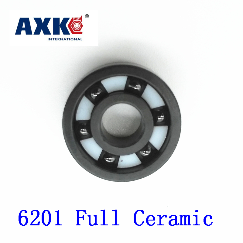 Axk 6201 Full Ceramic Bearing ( 1 Pc ) 12*32*10 Mm Si3n4 Material 6201ce All Silicon Nitride Ceramic Ball Bearings<br>