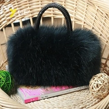 Hot Luxury Women Handbag Faux Rabbit Fur Designer Female Small Messenger Bags Winter Women Ladies Crossbody Tote Bags