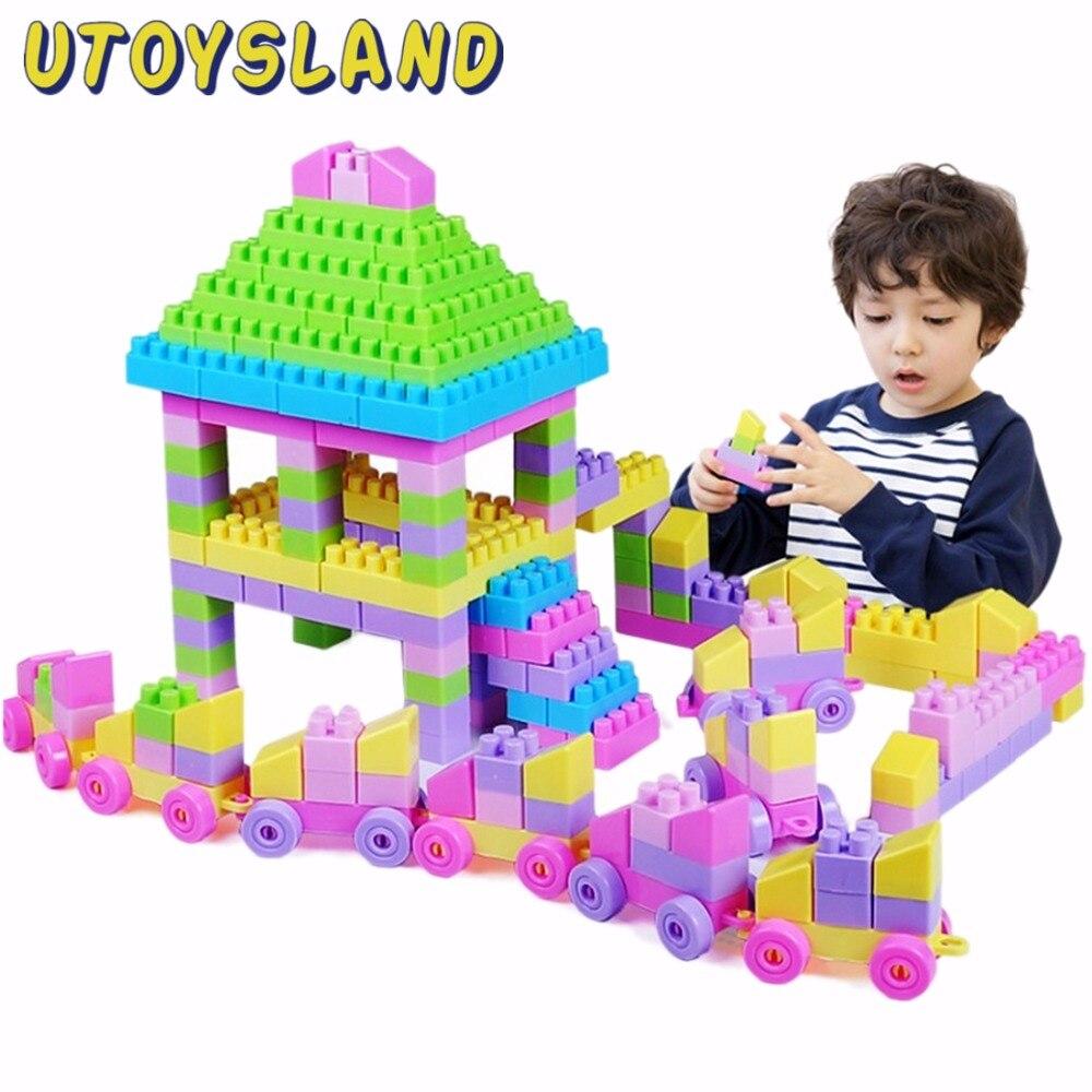 UTOYSLAND 260Pcs Kids Puzzle Educational Building Toys DIY Bloks Toy Set - Color Random<br><br>Aliexpress