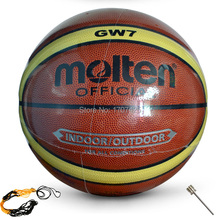 2015 Hot sales NEW Brand Hight Quality Molten GW7 Basketball Ball PU Materia Official Size7 Basketball Free With Net Bag+ Needle