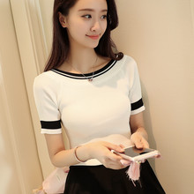 1061 real 2017 new knitted short sleeved ice linen 30