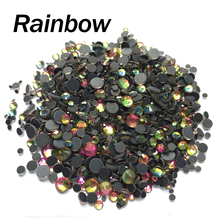 Rainbow Crystal stones Mix size SS6 SS10 SS16 SS20 SS30 2060Pcs/lot Hotfix rhinestones for rhinestone motif free shipping