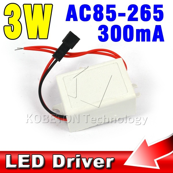 AC170-250V 50/60Hz 3x1W 3W LED Driver Lamp Power Supply Lighting Transformers for LED Strip Floodlight with Fireproof Case(China)