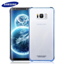 100% Original Samsung S8 S8 Plus Case Transparent protective shell Ultra Slim Back Protective Case S8 G9550/9500 Clear Cover(China)