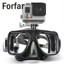 Forfar Underwater Camera Diving Mask Swimming Glasses Scuba Snorkel Mask For GoPro Hero 2 3 3+ 4 SJ4000 SJ5000 for Xiaomi yi(China)