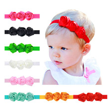 Headwear Headband Shabby Flowers Lace Net Yarn Chiffon Hairband Flower Headband Girls hair Accessories h163(China)