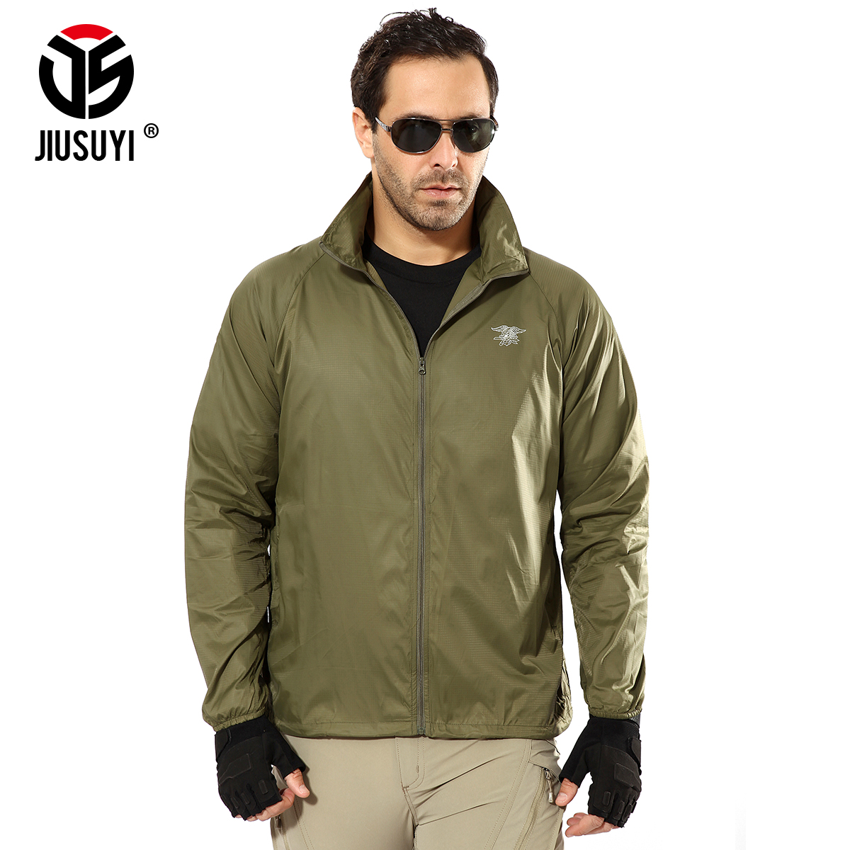 Urban Men Tactical Jackets Hunt Gear Waterproof Light and Thin Shark Skin Soft Shell Military Clothes Men's Wind Coat Camo Navy