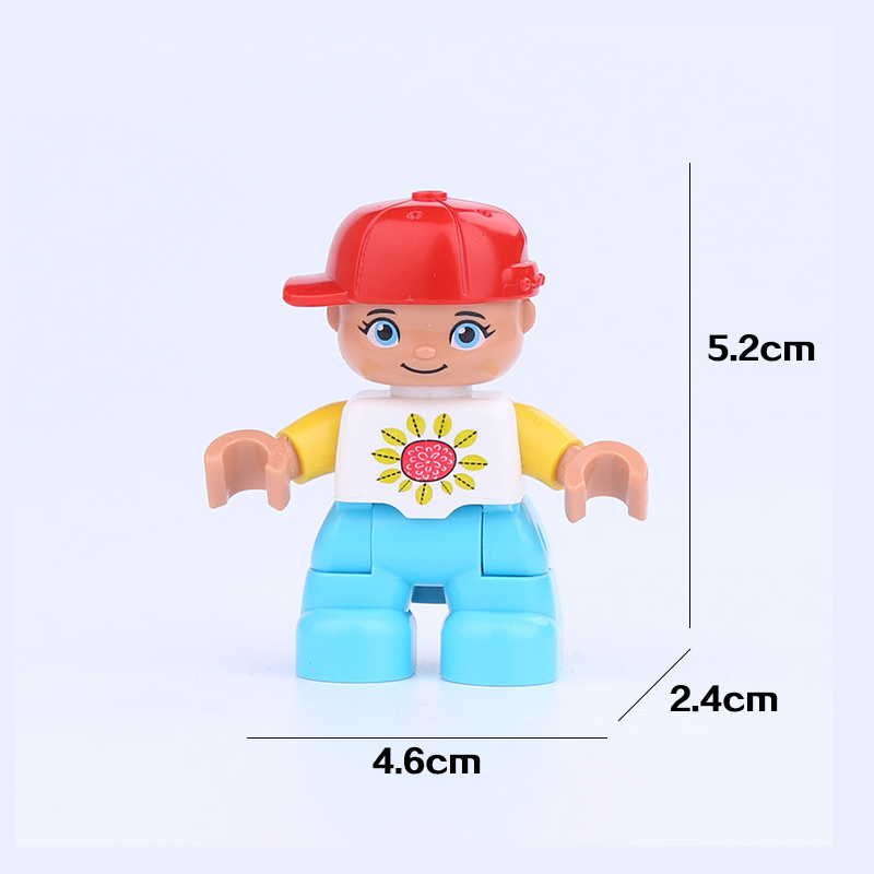 Duplo Gift Parent-child Interaction  City Figures  Plastic Toys Birthday Present  Building Blocks Educational  Figure Duploed