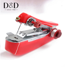 D&D Portable Mini Hand-Held Sewing Machine Clothes Fabrics Pocket Travel Sewing Tools(China)