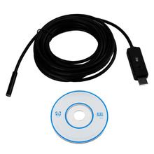 7mm Lens 5M USB Endoscope Waterproof 6 LED Borescope Tube Inspection Video Photo Capture Mini Camera with Driver CD Black New(China)