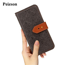 Peizson for iPhone 8 Plus Case,European Frescoe Flip PU Leather Cell Phone Back Case for Apple iPhone 8 Plus Wallet Cover(China)