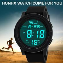Relogio Masculino Horloges Mannen Watch Fashion Waterproof LED Digital Touch Screen Day Date Silicone Hour sport watches for men
