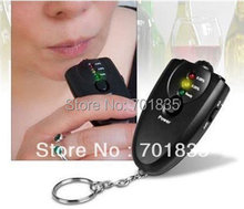 New 3 LED Keychain Breath Alcohol tester breathalyzer with clock, Free shipping!(China)