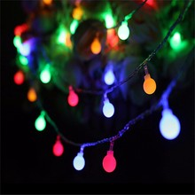 10M 100 LED Cherry Ball Bulbs String Fairy Lights Decorative lights Outdoor Lighting for patio Wedding Party Garland Decoration