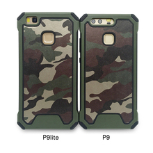 Army Camo Camouflage Pattern back cover Hard Plastic Soft TPU Armor protective phone cases For Huawei P9 P9 Lite P9 Plus Cases