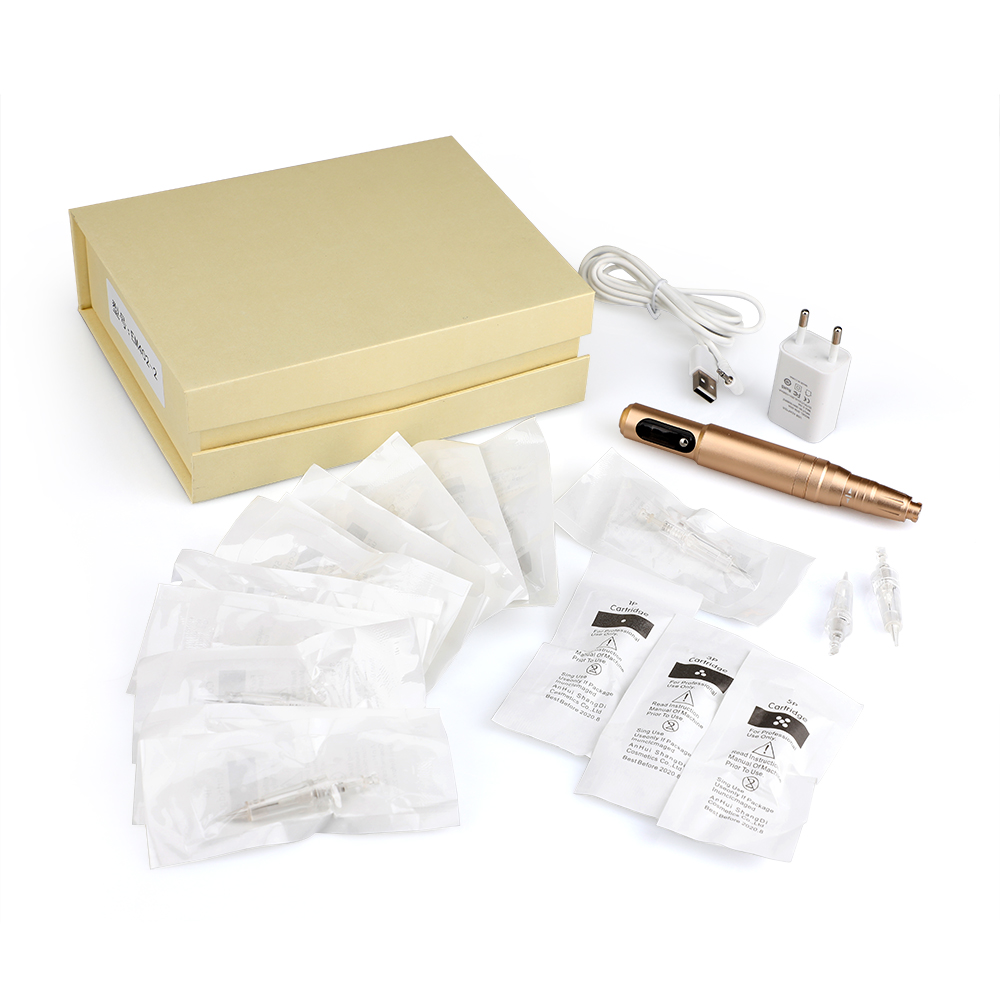 SolongTattoo Permanent Makeup Machine Pen Eyebrow Lip Eyeline Rotary Machine 5w Motor with Needle Cartridges EM402-1<br>