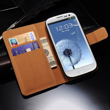 Wallet Flip Case For Samsung Galaxy S3 i9300 / S3 Neo PU Leather Cover With Card Holders Stand Phone Bag For Galaxy S3