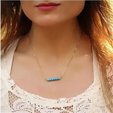 Women Gold Choker Necklace Minimalist Pendant Delicate Celebrity Necklaces with Beads Bridesmaid Jewelry Collares gros bijoux