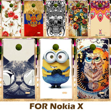 Painting Hard Plastic Case For Nokia X X+ 1045 A110 RM-980 4.0 inch Cell Phone Shell Cover Protective Sleeve Funda Carcasa Hood