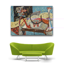 2017 New Fashion Sale Wall Art Large Paintings For Home Decor Idea Painting Print On Canvas Jackson Pollock Stenographic Figure
