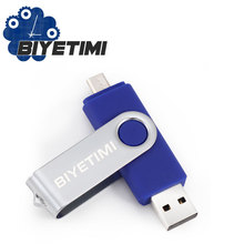 Biyetimi 6Colors Promotion OTG Phone USB Flash Drive Universal Smart Phone OTG USB Pen Pendrives 4gb 8gb 16gb 32gb 64g U Disk(China)