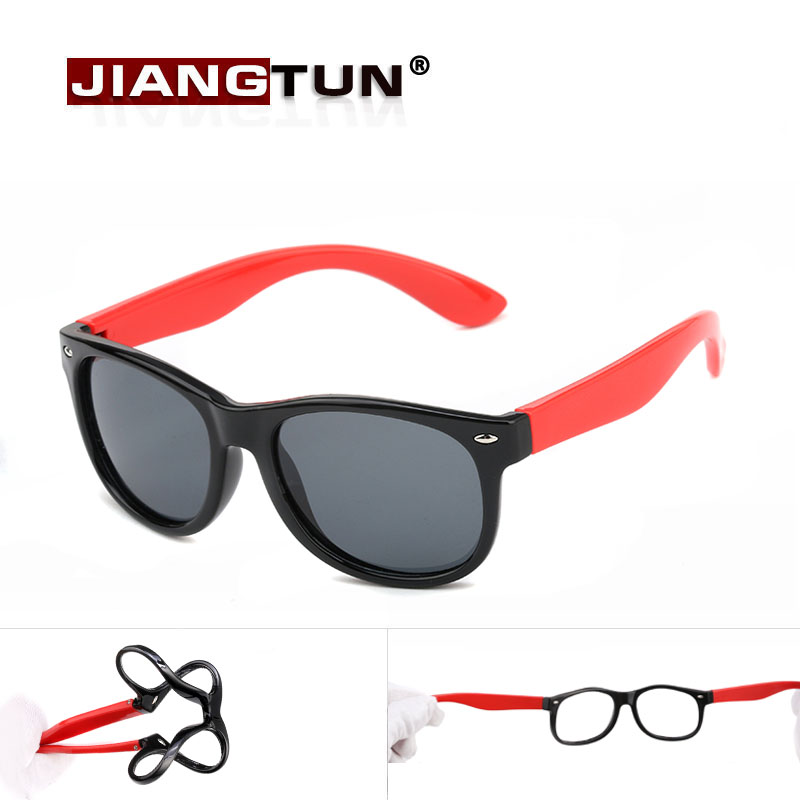 JIANGTUN New Fashion Boys Girls Kids Sunglasses Polarized Safety Design Childrens Lovely Glasses UV Protection Oculos Infantil<br><br>Aliexpress