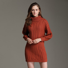 Wanglingsong 2017 New Arrival Autumn Knitted Sweaters For Women Pullovers Turtleneck Casual Wool Fashion Khaki Orange M0701(China)