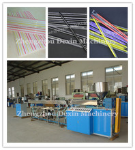 Clear or Colored Plastic Drinking Straw Extrusion Making Machine/ PP PE 2 Colors Strips Plastic Drinking Straws Production Line(China)