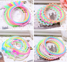 10Color Hair Accessories Noctilucet Telephone Wire Hairbands Headwear Elastic Spring Hair Bands Hair Rings/Ropes Ponytail Holder