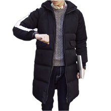 2016 Men Warm Jacket New Men Winter Parka Man Long Black Thick Casual Hooded Coat Male Jackets Overcoat Plus size M-3XL