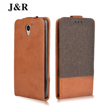 For ZTE A510 Case Luxury PU Leather Back Cover Case For ZTE Blade A510 A 510 Case Flip Protective Phone Bag With Slots J&R Brand(China)