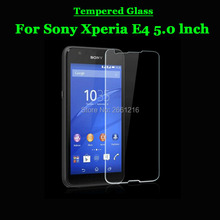 For Sony Xperia E4 E 4 Tempered Glass 9H 2.5D Premium Screen Protector Film For Sony Xperia E4 E2105 E2114 E2115 E2124 Dual 5.0""