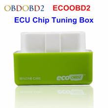 15% Fuel Save EcoOBD2 Chip Tuning Box ECO OBD2 Benzine Petrol Gasoline Cars Plug & Drive Device OBDII Diagnostic Tool Retail Box