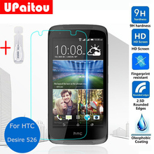 UPaitou Glass For Htc Desire 526 4G Lte Tempered Glass Film HD Clear Safety Protective Screen Protector on 526G+ Dual Sim D526h(China)