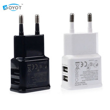 5V 2A EU PLug Wall Charger Universal Mobile Phone Travel Charger For Samsung HTC Jiayu Xiaomi LG Dual USB Wall Charger Adapter