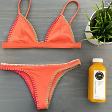 2017 Swimwear Bikini Orange Bikini Brazilian Sexy Bandage Biquini Beachwear Swimwear Ladies Swimsuit Bathing Suit