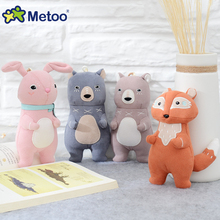 Metoo Kawaii Animals Stuffed Doll Toys Key Bag Car Ornaments Lovely Creative Forest Rabbit Bear Plush Doll For Birthday Gifts(China)