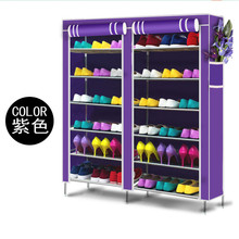 House Scenery folding storage Cabinets Furniture Portable shoe racks multi-layer assembled Dustproof Wetproof Shoes Shelf Room(China)