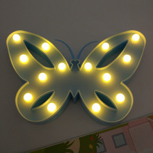 YIYANG 3D Marquee Butterfly Led Night Light Christmas Table Lamps For Kids Children Gift Party Wedding Room Decoration(China)