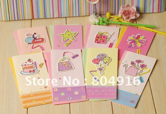 Colorful Designs Blessing Cards Birthday Card Greeting 50sets Lot Randomly Delivery St0573 On Aliexpress Com Alibaba Group