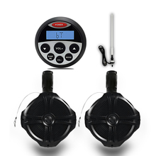 "Waterproof FM AM MP3/USB Stereo Receiver for BOAT ATV SPA UTV+1 Pair 6.5"" Marine Speakers Totaling 500 Watts+1 Antenna(China)"