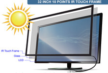 10 touch points 32 inch IR multi Touch Screen Frame / stable, no-drift calibration performance(China)