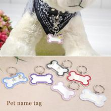 Dog Name ID Tag Bone Metal Brand Anti Lost Pet Dog Identity Card Tags Pet Dog Collar Pendant Pet Dog Collar Accessories S/M/L