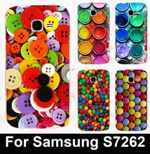Colorful button&chocolate mobile phone case for Samsung Galaxy Star Pro S7260 S7262 s7278 i679 protective case hard Back cover