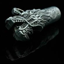 Free shipping  dragon's head shape cylinder windfroof Cigarette Lighter Novelty butane torch Lighters refillable