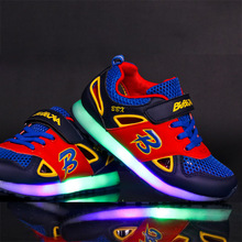 Children Boys Girls Glowing Sneaker Sneakers Summer Sports Shoes LED Luminous Shoes Illuminated Shoes with Backlight Light Up