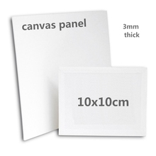 10x10cm mini Painting Use and MDF Material canvas panel ( 5 pieces )