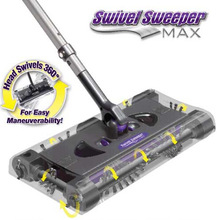 SWSMAX Max Cordless Swivel Sweeper G8 Electronic Spin Broom Hand Push Sweeper
